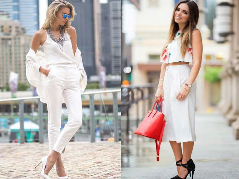 Try wearing white pants