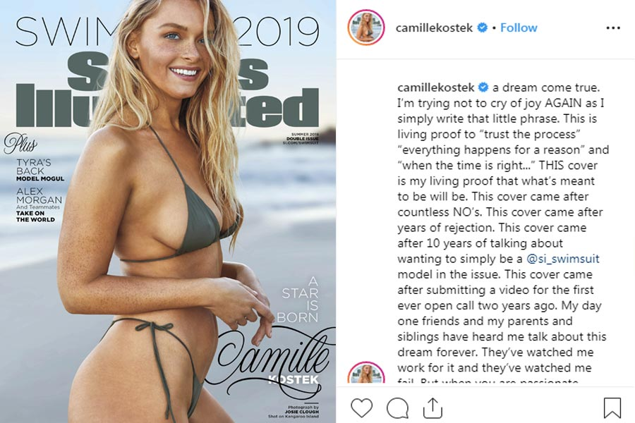 Camille Kostek is a Sports Illustrates Swimsuit Cover Star
