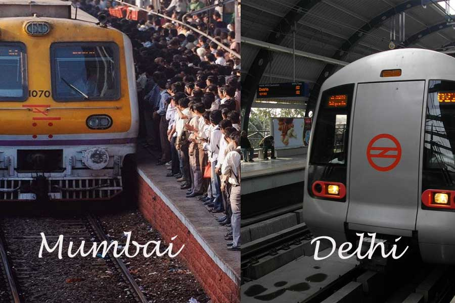 Public transport in Mumbai vs Delhi