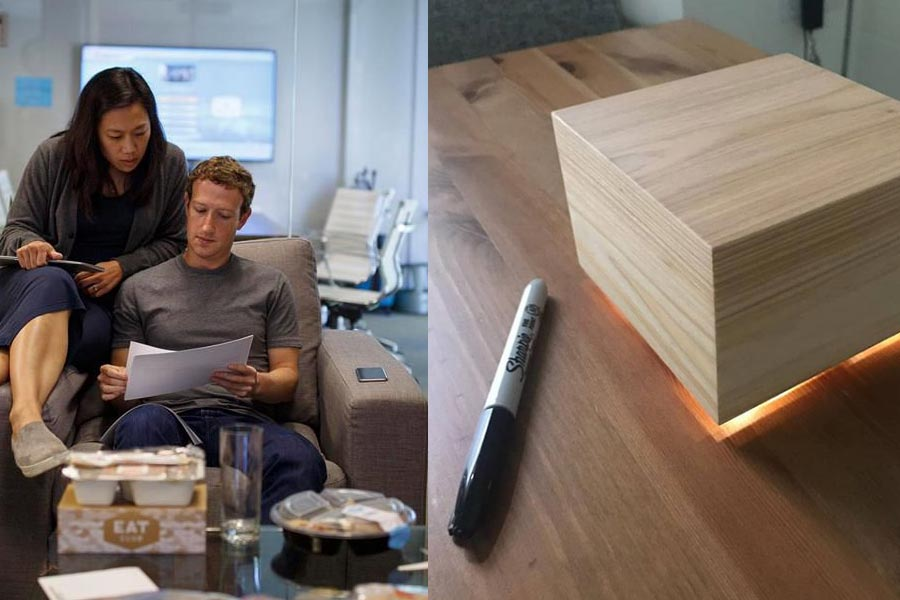 Zuckerberg Built a Glowing 'Sleep Box'