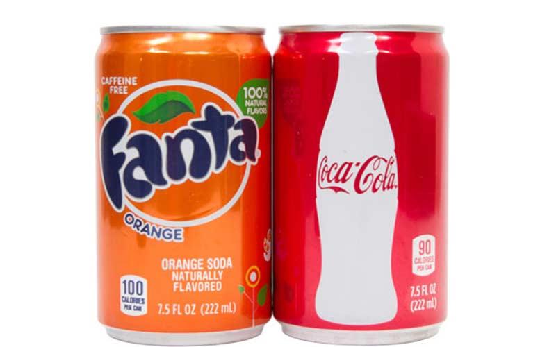 Coke and Orange Fanta