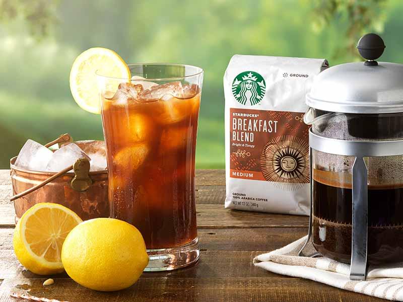Iced Coffee and Lemonade