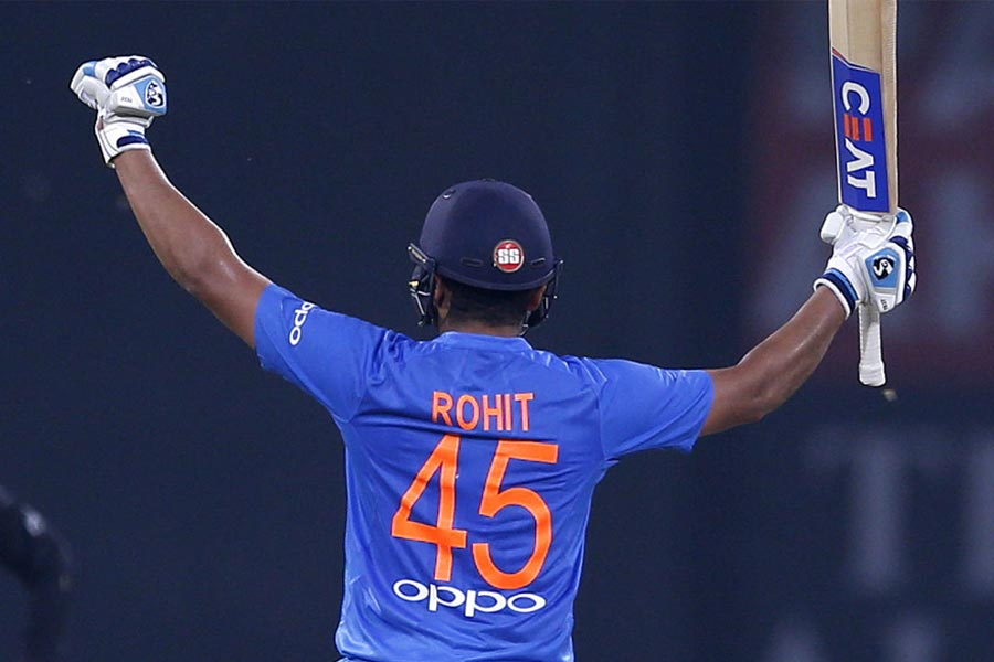 Rohit Sharma's jersey number '45'