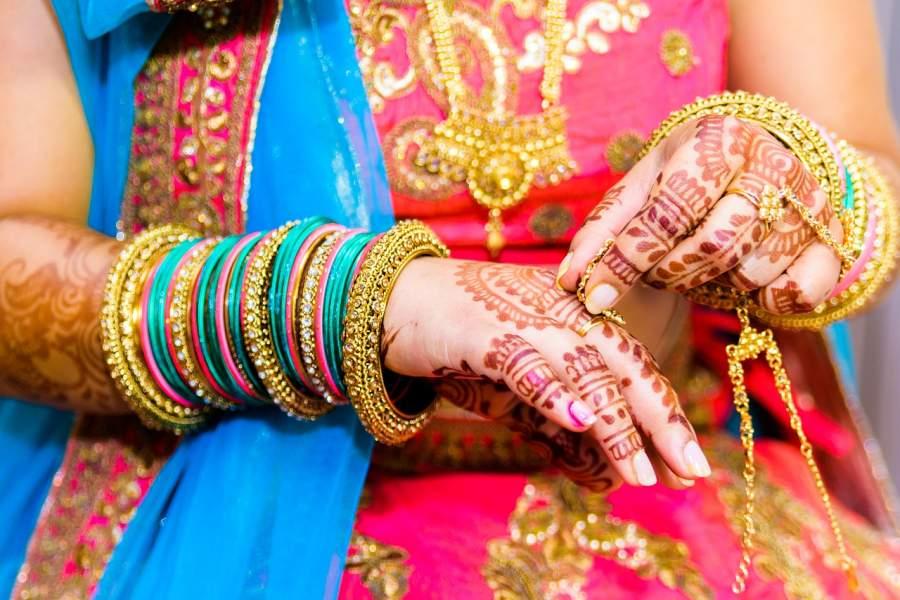 Wearing bangles
