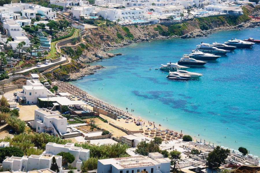 Psarou Beach, Mykonos, Greece