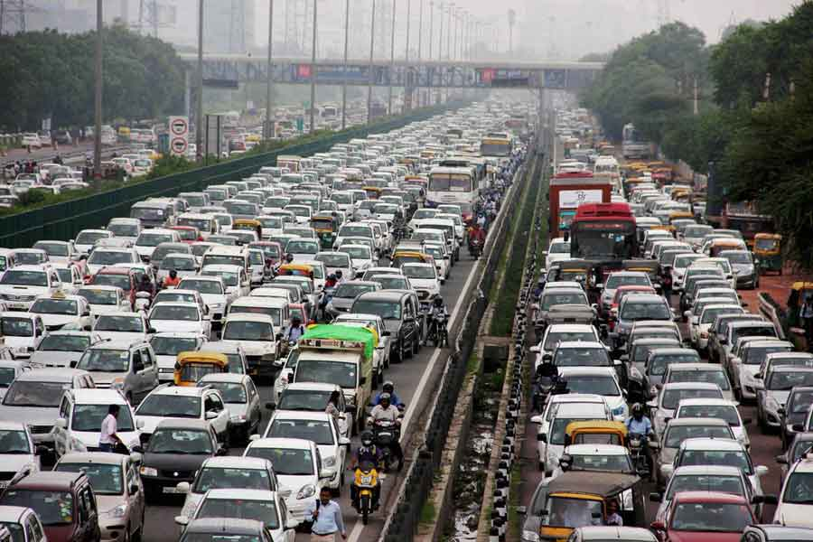 Worst traffic condition in India