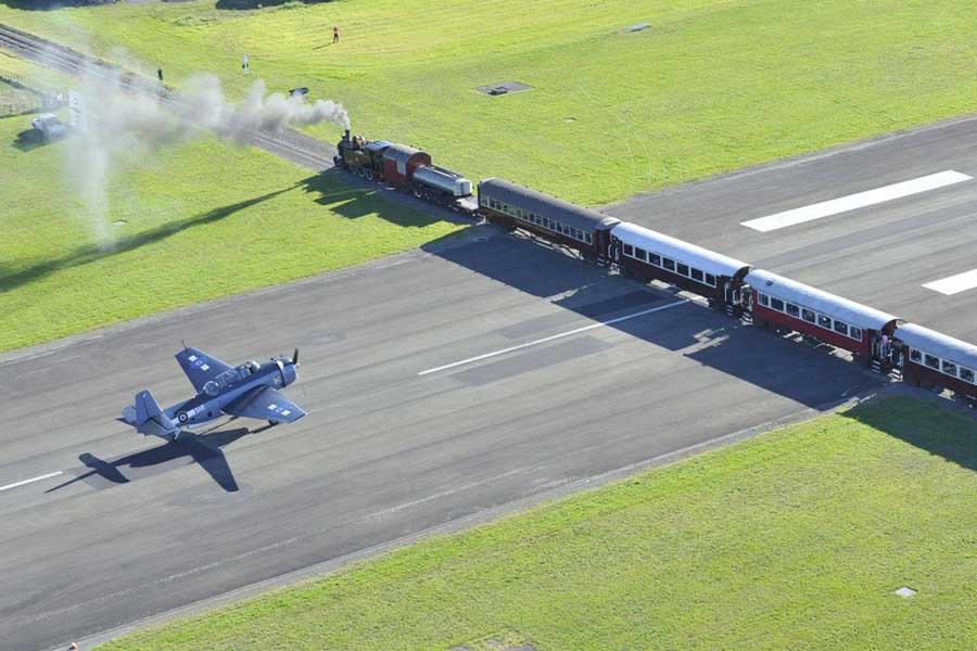 Gisborne Airport intersecting route, New Zealand