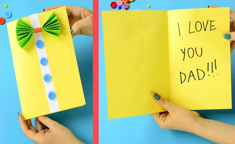Write him a card that says you know he loves you