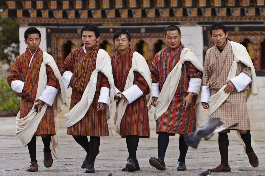 Bhutan's work uniform is its nation dress