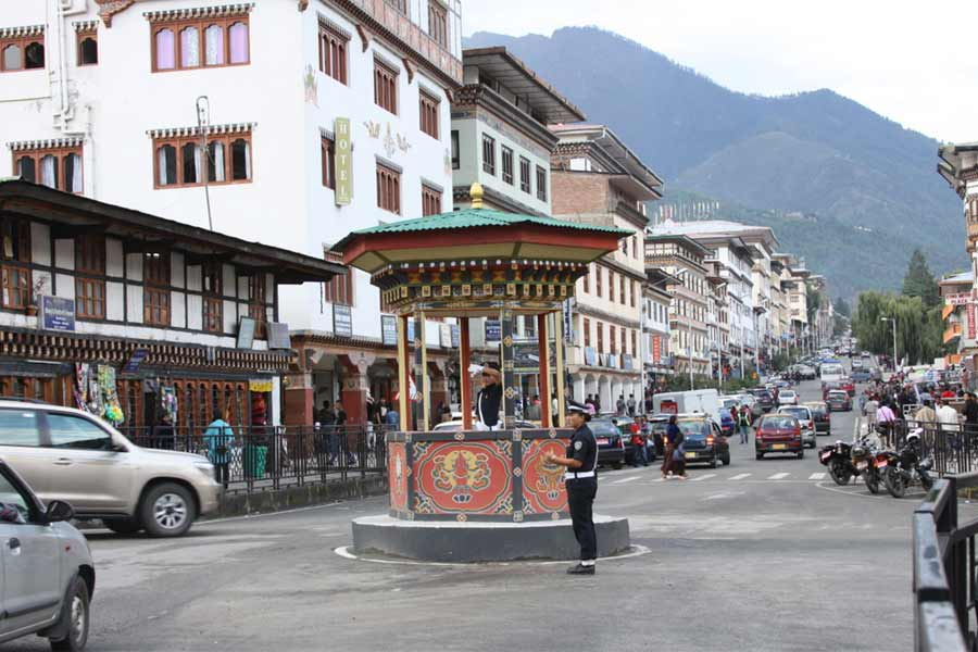 No Traffic Lights in Bhutan