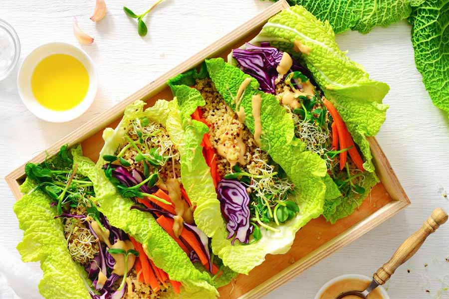 Eat lots of salad and green leafy vegetables