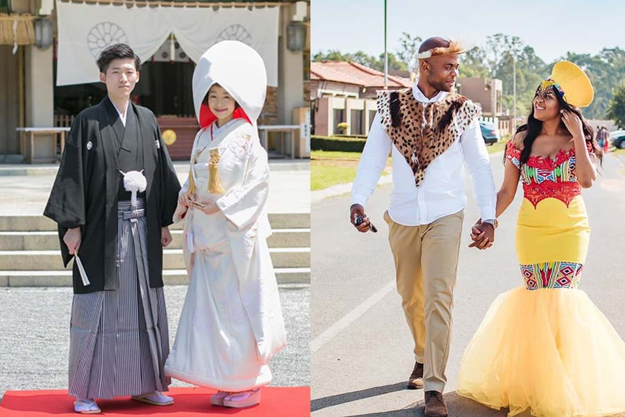 8 Bridal Wedding Attire From Different Countries