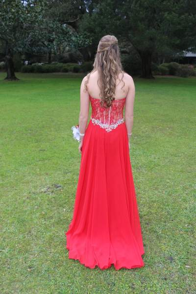 The Empire Lined Evening Dress