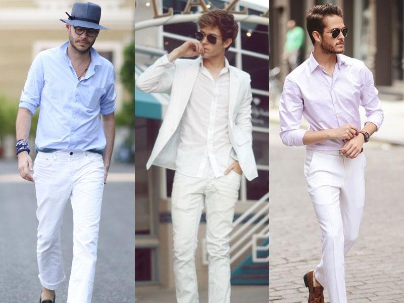 Men All white Dress