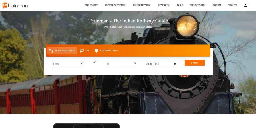 Five of the latest features of the Trainman app