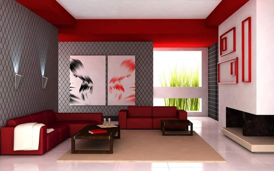 Red Room Interior