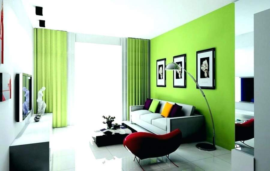 Living room green Wall colour