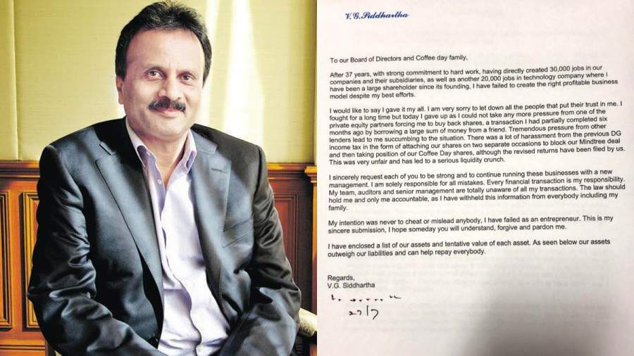 Siddhartha's letter to CCD employees