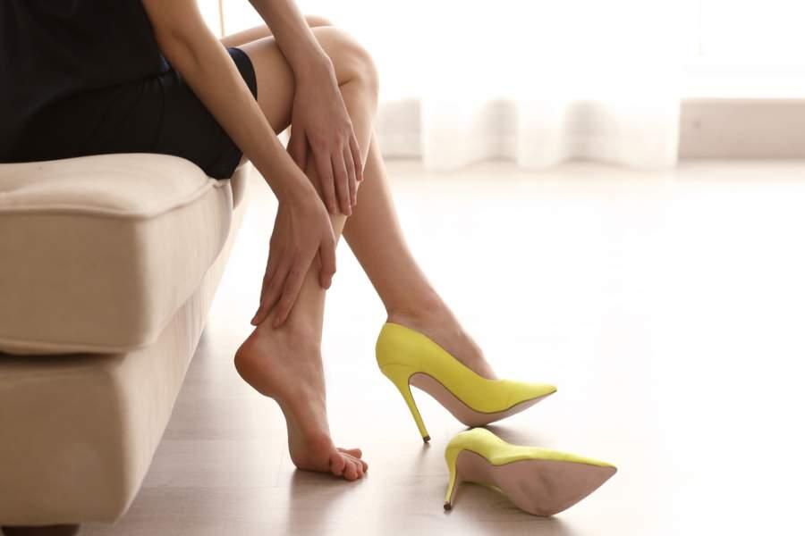 High heels causes Sore calves