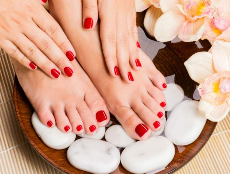 Pamper your hands and feet with frequent manicure and pedicure