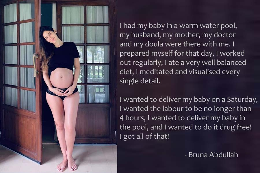 Bruna Abdullah Shares Her Magical Baby Birth Experience in Water
