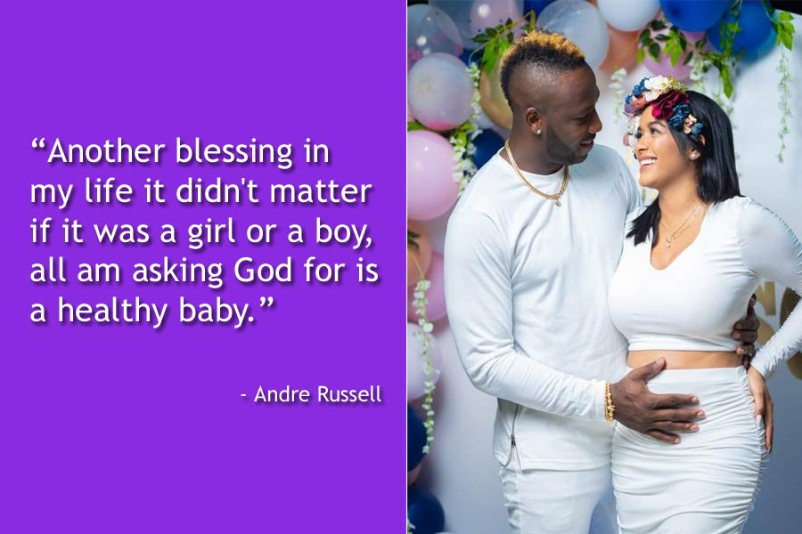 Andre Russell and Wife Jassym Lora Reveal Pregnancy News