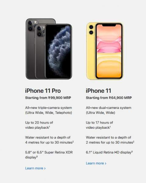 Special features of Apple iPhone 11