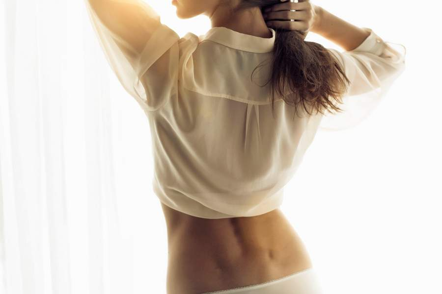 Lower back dimples