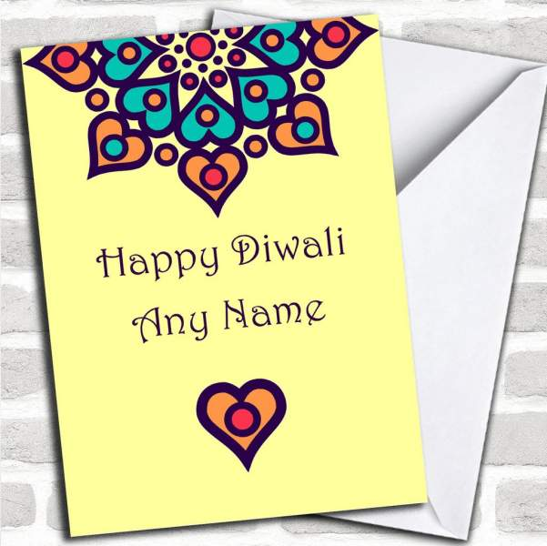 Personalized Diwali Card