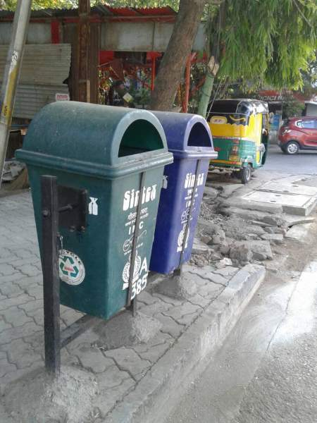 Government distributed dustbins