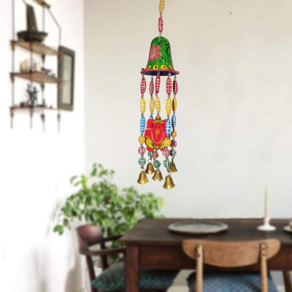 Hang wind chimes to bring a wealth