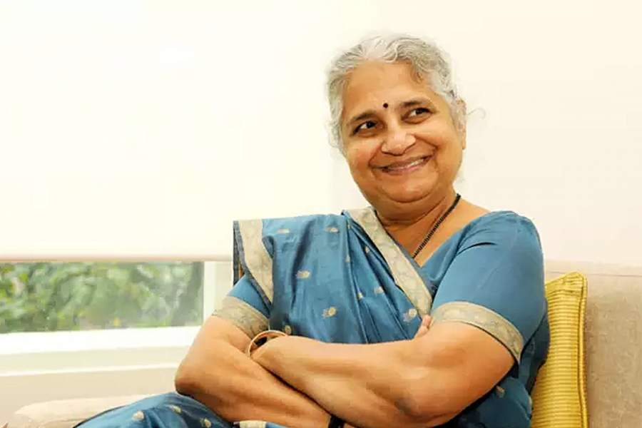 Sudha Murthy was the only girl to study among 599 boys
