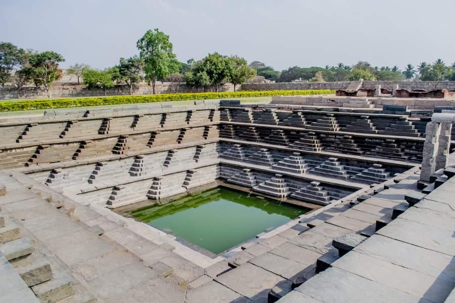 Pushkarani Tank Hampi, Karnataka