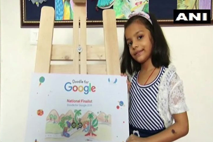 7-Year-old Girl from Gurugram Wins for Creating Awesome Google Doodle Painting