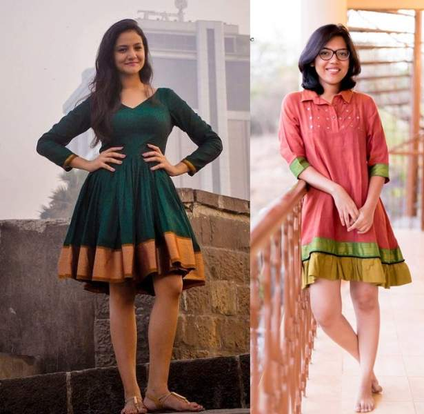 Try making a short kurta from an old saree