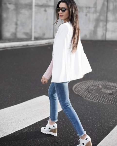 Jeans with stylish shoes
