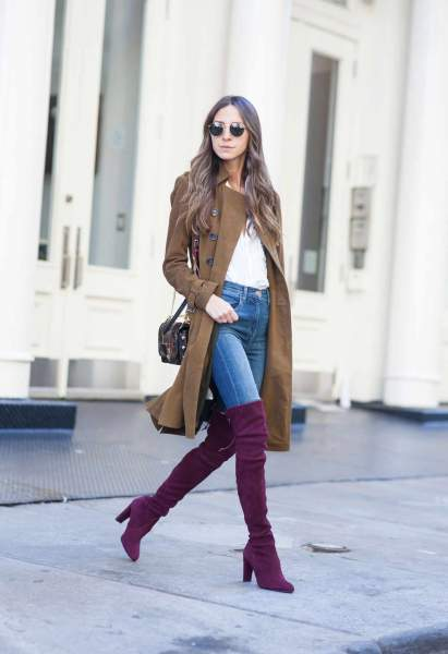 Pair them up with tall boots
