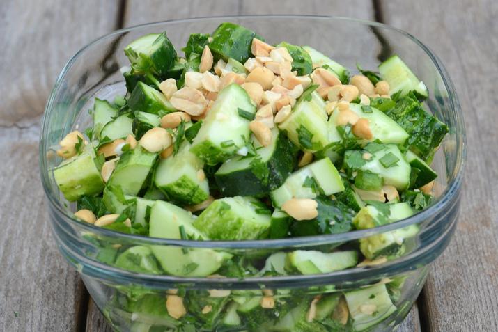 Thai cucumber salad with peanuts