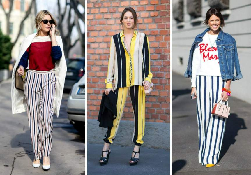 Choose the outfits with vertical stripes and catchy print