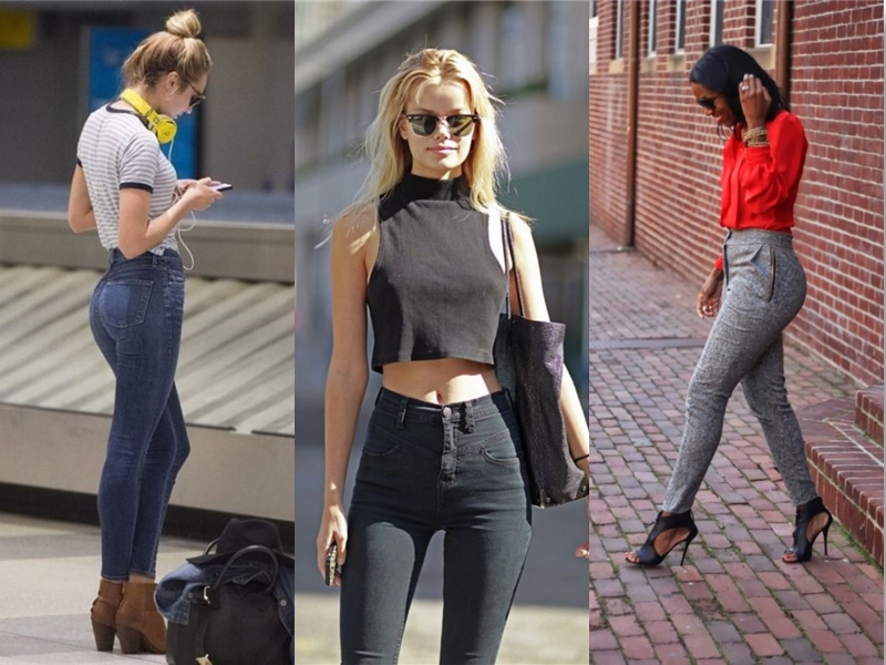Try wearing a high waist pant