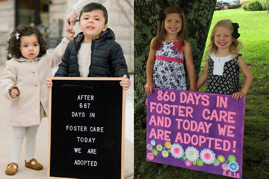 Heartwarming Pictures of Kids Right After Adoption