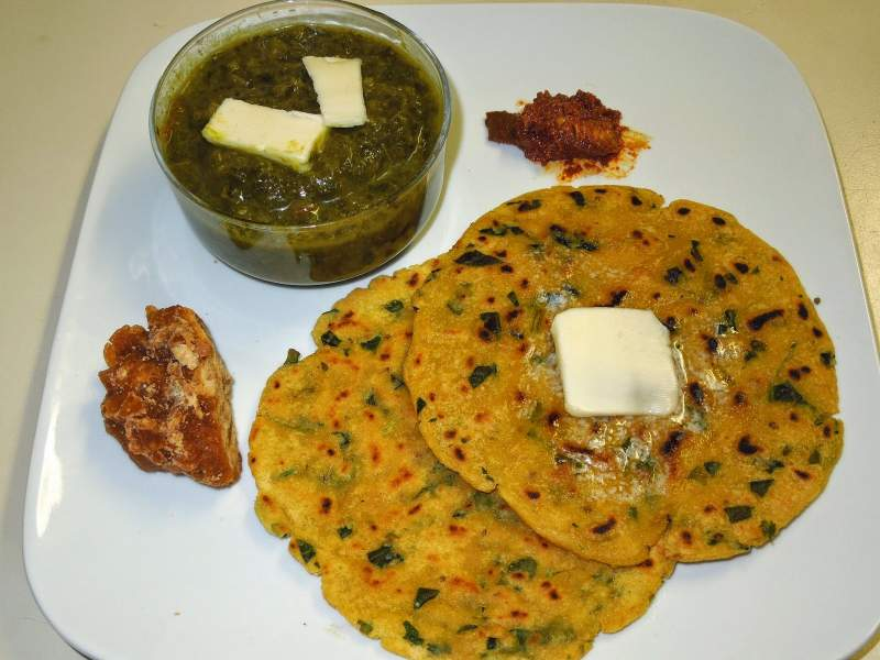 Sarson da sag Makki di Roti - winter food