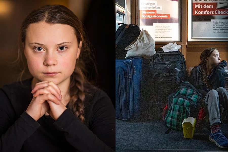 Greta Thunberg on the German Train