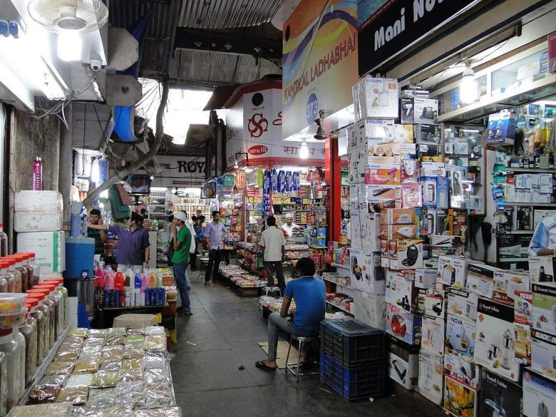 Shopping at Crawford Market, CST