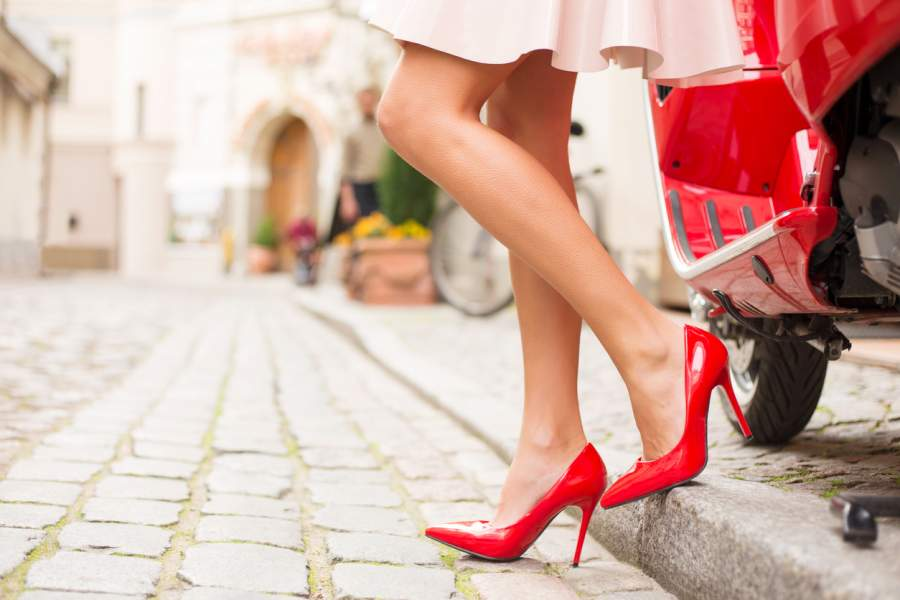High heels could cause pain in your joints