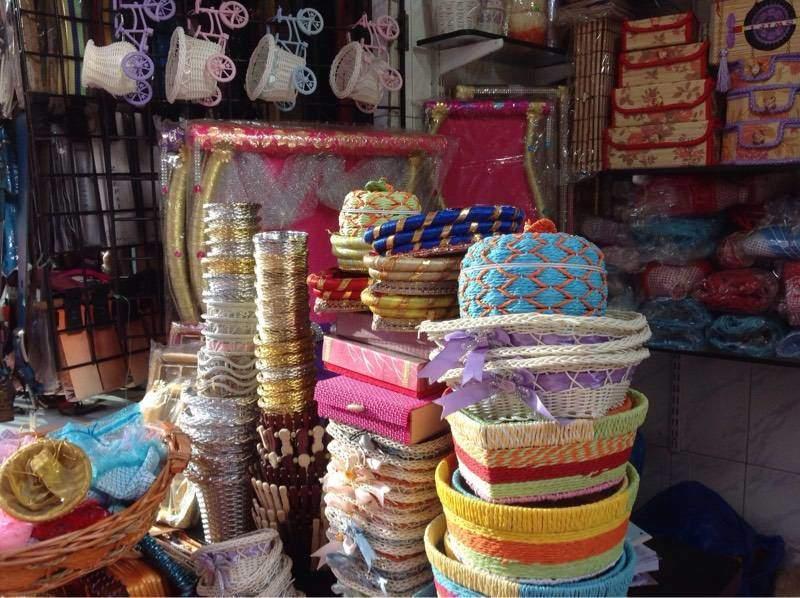 Cane baskets In Crawford Market Mumbai