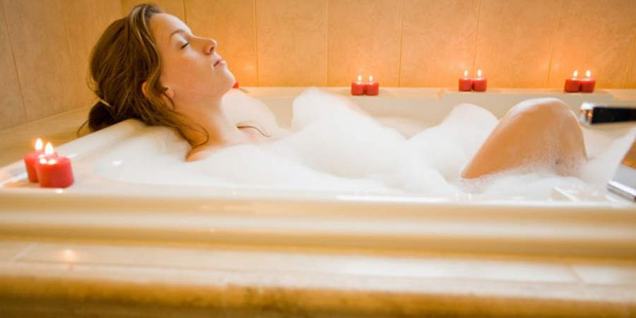 Soak in hot bathtub Helps you get better sleep