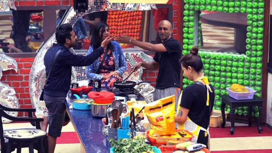 Contestants get the liquor in juice packaging