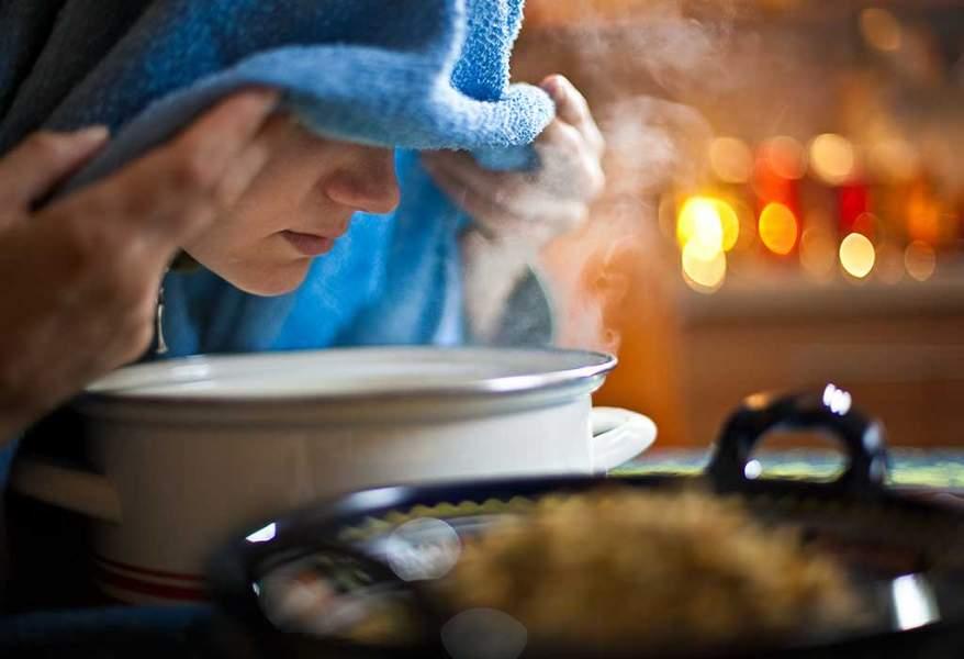Inhaling steam may help