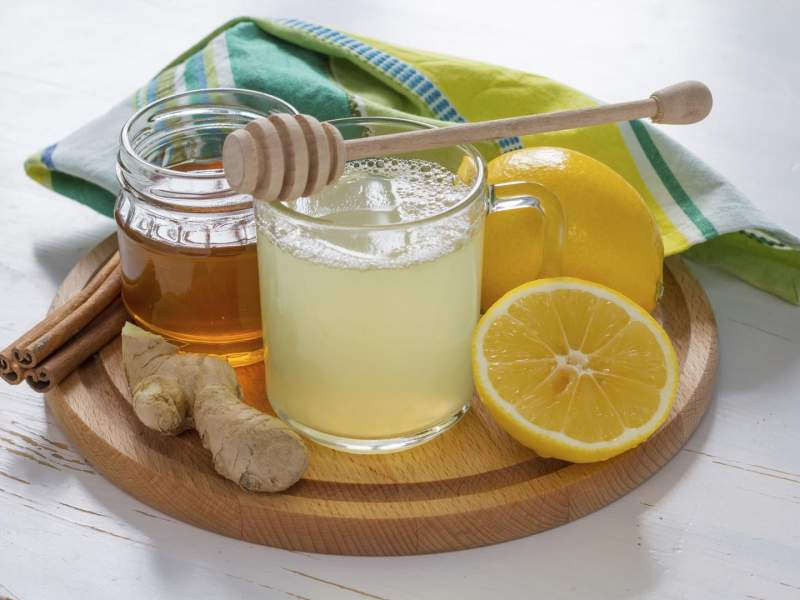Drink honey and lemon juice